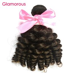Wholesale Cambodian Baby Hair - Glamorous Unprocessed Human Hair 1 Bundle Baby Curly Hair Weft 8-34inch Available Peruvian Indian Malaysian Brazilian Virgin Hair Extensions