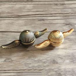 Hilanderos de oro inquieto online-El más nuevo Hand Spinner Harry Potter Golden Snitch Fidget Spinner EDC Toys Aleación de Zinc Descompresión Finger Gyro Toys DHL libre