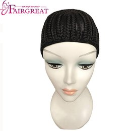 Wholesale Mesh Crochet - Braided Cap for Crochet Braids or Weaves Adjustable Straps DIY Hair Wig Weaving Cap One Size Fit All Net Mesh Full Cap Wholesale