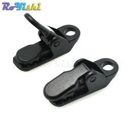 Wholesale Wholesale Plastic Name Tags - 100pcs lot Plastic ID Card Name Tag Holder Badge Clip Black For Cord Lanyard Garment Accessories