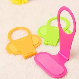 Wholesale Hang Phone Hanger - Wholesale-1PC Foldable Plastic Folding Cell Phone Wall Charger Hanger Holder Charging Rack Stand Cradle Universal Hang Mobile Phone
