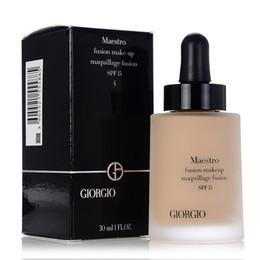Wholesale Fusion Brands - Brand GIORGIO Liquid Foundation Maestro fusion makeup maquillage fusion $PF15 30ml 3 color 02 03 04 DHL Free Shipping