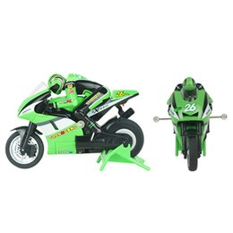 Wholesale Brushless Bike - Wholesale-3CH 2.4G 1:20 High Speed Stunt Mini RC Remote Control Racing Motorcycle BIKE RTR Motorcycle Stunt