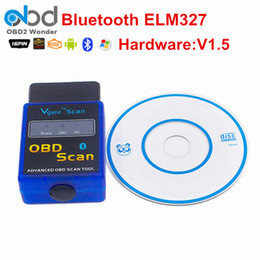 Wholesale Daewoo Scan - MINI ELM 327 Bluetooth Vgate Scan OBD2   OBDII ELM327 V1.5 Bluetooth Diagnosytic Code Scanner tool For Free Shipping