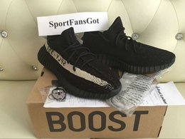 Wholesale Black Socks White Shoes - BY1604 Core Black White V2 Sply Shoes 36-48 Onsale 350 V2 Sply Limited Real Boost 350 With Receipt Box Socks Kanye West Running Shoes