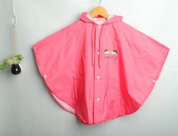 Wholesale Cape Ears - Wholesale New style smally children raincoats with big ears ellow,rose red and blue Cape raincoat WD222