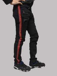 Wholesale Stylish Capris - Wholesale-NWT BP Men's Stylish Fashion Stretch Slim Red Bend Washed Biker Black Jeans Size 28-40 (#947),Epacket Fast Free Shipping