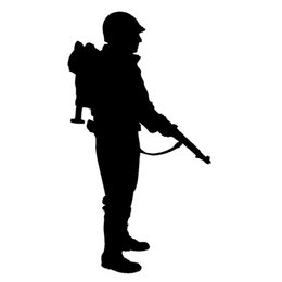 Wholesale Red Laptop Stand - Wholesale 10pcs lot Loyal Soldiers Stand Guard Warning with Equipment Car Stickers for Bumper Door Motorcycle Laptop Home Car Decor Decal