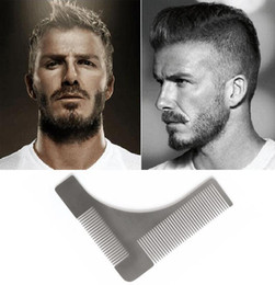 Wholesale Selling Mustache - 2017 Hot Sell New Perfect Lines & Symmetry Stainless steel Beard Shaping Template Comb Trim Tool