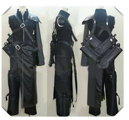 Cosplay fantasia final on-line-Cosplay Nuvem Final Fantasy VII com broche saco de espada