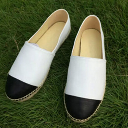 Wholesale Lambskin Leather Shoes - Brand Women Espadrilles Top Quality Brand 2017 Real Lambskin Women Flat Shoes Comfortable casual loafers Size EUR35-42