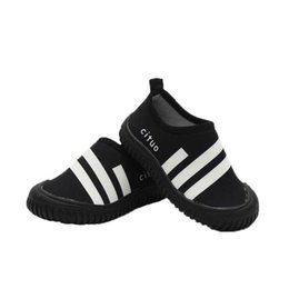 Wholesale quick dry medium - Quick Dry Boys Shoes Striped Antiskid Soft Sport Running Anti-slip Swimming Pool Beach Girls Sandy beach Developing Shoe Breathable Sneakers