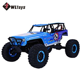 Wholesale electric motor track - Wholesale- WLtoys 10428A RC Cars 2.4G 1:10 Scale 540 Brushed Motor Remote Control Electric Wild Track Warrior Car Toy