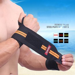 Wholesale Grey Lifts - Weight Lifting Fitness Gym Hand Wrist Support Wrap Bandage Weight Lifting Strap Brace Wristband Protective Wristband A375