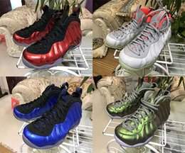 Wholesale Shoe Air Foam - 2017 New Air Penny Foams Casual Shoes foamposite Sneaker One Eggplant spray One Copper jet One Royal classic blue spray