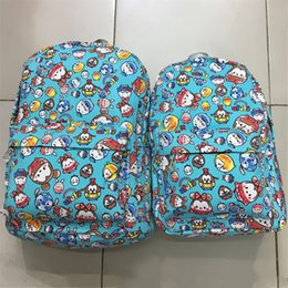 Wholesale Minnie Leisure - Famouse Cartoon Tsum Tsum Mickey Minnie Canvas Backpacks Kids Teenager Leisure School Bags Travel Bags Laptop Backpack Christmas Gifts
