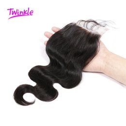 Wholesale Wholesale Virgin Hair For Sale - 7A Brazilian Virgin Hair Body Wave Closure Free Middle Three Part Closure For Sale Bleached Knots Human Hair Closure 8-22inch