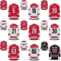 Wholesale Blue Cam - Mens 53 Jeff Skinner 11 Staal 30 Cam Ward 28 Alexander Semin 20 Sebastian Aho Carolina Hurricanes Custom Hockey Jerseys