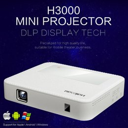 Wholesale Gaming Cpu - Wholesale-H3000 Mini wifi DLP projector Andriod4.4 HDMI Full HD 1080P 2.4Ghz+5Ghz Wifi proyector 4Cores CPU 8GB capacity TV Airplay