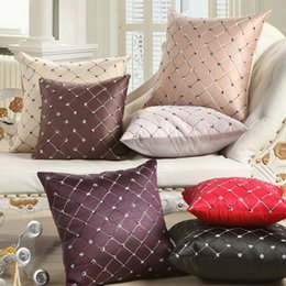 Wholesale Diamond Cushion Covers - Sofa Print Pillowcase Hold Decorative Pattern Concept of Literature and Art Van Diamond Lattice Geometry Hold Pillow Case Cushion Cover
