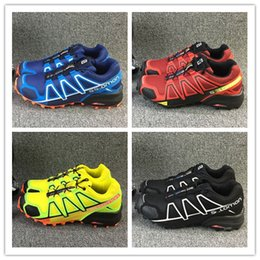Wholesale High Walk - Christmas gift 2017 New High Quality Zapatillas Speedcross 3 Running Shoes Men Women Walking Ourdoor Sport shoes Athletic Shoes Size 36-46