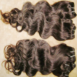 Wholesale Fast Texture - 11pcs lot great quality unprocessed Brazilian human body wave hair wavy texture #1B Cheap hair Weaves Fast Shipping