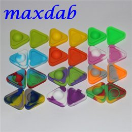 Wholesale Food Container Organizer - Nonstick Wax Containers silicone box 1.5ml triangle Silicon container Non-stick food grade wax jars dab storage jar oil holder