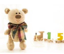 Wholesale China Boy Baby - 2017 Newborn Baby Girls Boys Toys Crochet Baby Bear Handmade Photography Prop Photo Knit Toy Cute Gift DIY Dolls FreeShipping