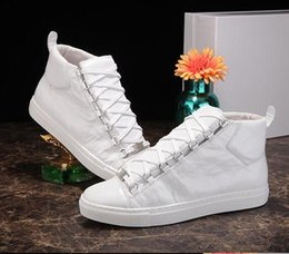 Wholesale Popular Men Shoes Brand - new arrived mens brand genuine leather popular leisure shoes arena high-top man shoes size 38-46