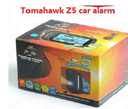 Wholesale Mitsubishi Starter - Newest TOMAHAWK Z5 car alarm system lcd car alarm system with engine starter two way russian market Free shipping