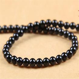 monili della collana di onice neri Sconti Perline di pietra di agata rotonda 6MM DHL liscia pietra preziosa onice nero per gioielli che fanno perle allentate bracciali accessori collana regalo di Natale