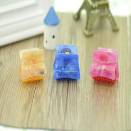 Wholesale Mini Hair Clamps - Custom printed PC 41 mm yellow mini hair claw clip for women 12 PCS  1 bag