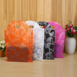 Wholesale Clothes Plastic Packaging - 20*25 25*40 Plastic Gift Bags Thicher PVC Colorful Clothing Shopping Pouches Bags Packaging 30*45 35*50 40*55 Wholesale Free Ship - 0031Pack