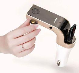 canción mp3 Rebajas G7 Smartphone Bluetooth MP3 Radio Player Handfree FM Transmisor Modulador 2.1A Cargador de Coche Kit Inalámbrico Soporte Manos Libres Micro SD TF Card