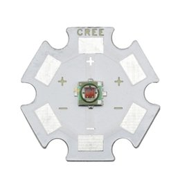 Cree rojo bombillas led online-Al por mayor-5PCS Cree XLamp XPE XP-E 1W 3W ROJO 620nm-630nm LED emisor de luz Bombilla montada en 20mm Star PCB