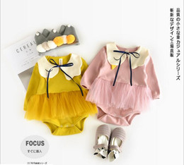 Wholesale Swan Kid - INS new arrivals fall baby kids climbing romper long sleeve Swan style pet pan collar girl boy kids romper kid summer rompers 0-2T
