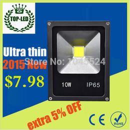 Wholesale Rgb Home Spot - Wholesale-Ultra Thin 10W RGB LED Floodlight AC85-265V IP65 Waterproof LED Spot light Projection lamp Home Garden Outside light