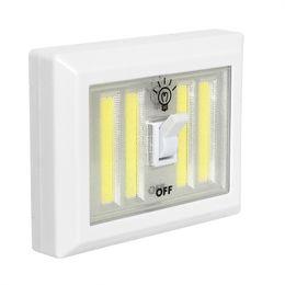 Wholesale Cordless Closet Light - Magnetic 4* COB LED Cordless Light Switch Wall Night Lights Battery Operated Kitchen Cabinet Garage Closet Camp Emergency Lamp