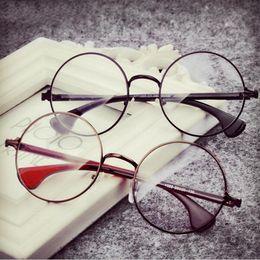 aad1b291b5a Wholesale- Newest Decoration Plain Mirror Europe Men women Round Retro  Metal Eyeglasses Frames Korean Myopia Glasses Frame Optical Circle discount  korean ...
