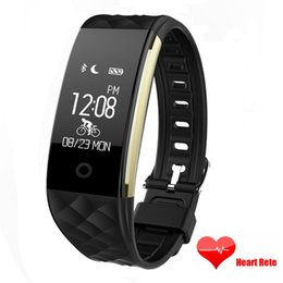 Wholesale Phone Call Tracking - Sports S2 Bluetooth SmartBand Heart Rate Monitor Waterproof IP67 Wristband Bicycle Bracelet Push SMS Fitness tracking for Android IOS Phones
