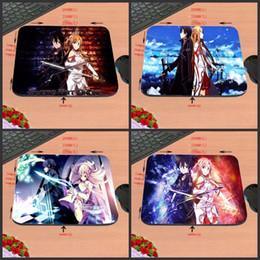 2019 impressões gratuitas online Frete Grátis Anime Espada de Arte Em Linha de Impressão 18 * 22 cm / 25 * 20 * cm / 25 * 29 cm Não-slip Borracha Mouse Pad Computador Gaming Mouse Pad impressões gratuitas online barato