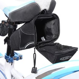 Wholesale Bike Bag Back - Wholesale 2017 Outdoor Cycling Mountain Bike Bicycle Waterproof Saddle Bag Quick Release Back Seat Tail Pouch Package Free Shipping