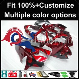 Wholesale Kawasaki Zx9r Black - Injection mold black flames red kit motorcycle cowl for Kawasaki ZX-9R 2000-2001 00 01 ZX 9R 2000 2001 00-01 ABS Plastic Fairing