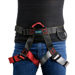 Wholesale sitting bags - Wholesale-Harness Seat Belts Sitting Safety Outdoor Rock Climbing Rappelling Tool With Bag