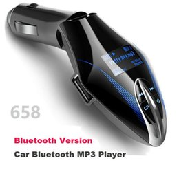 Wholesale Free Phones Uk - 658 Car Bluetooth Call Hands-free Kit RadioFM Transmitter SD TF USB Car MP3 Player AUX IN Bluetooth Car Phone Charger