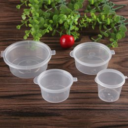 Wholesale Sauce Cups - 3oz 2oz 1.5oz 1oz Plastic Disposable Cups seasoning box The takeaway packaged sauce cup Transparent tape cover