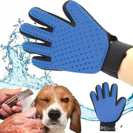 Wholesale Bathing Table - Premium Deshedding Tools Pet Glove True Touch For Gentle And Efficient Grooming Removal Glove Bath Dog Cat Brush Comb Free DHL Shipping