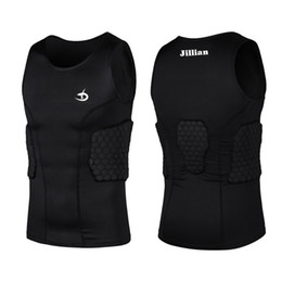 Wholesale Armor Vests - Rugby Protective Clothing Anti-Collision Running Clothing Vest Armor Protective Outdoors Shorts Running Polyester Fibre Vest M L XL XXL