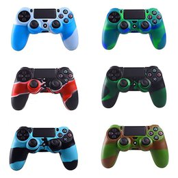 Wholesale Silicone Case Skin Cover - Soft Silicone Rubber Case Cover For Sony Play Station Dualshock 4 PS4 Wireless Controller Skin PS4 Controller