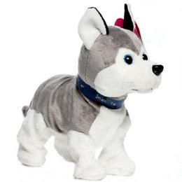 Wholesale Electronic Toys For Dogs - Lovely Electronic Dogs Pets Sound Control Interactive Robot Toy Dog Bark Stand Walk Electronic Pet Toys Christmas Gift For Kids